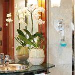 Badezimmer mit Dusche im Superior Zimmer