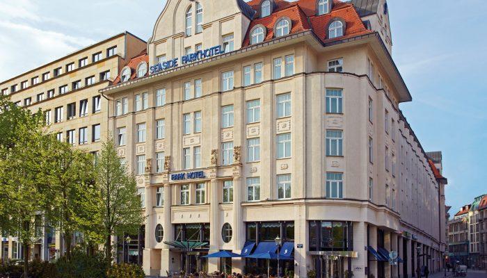 Jugendstilfassade des Seaside Park Hotel