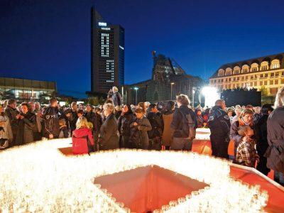 Lichtfest Leipzig am 9. Oktober