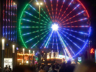 Stadtfest Leipzig – Augustusplatz Riesenrad bei Nacht